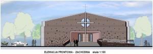 Nowa kaplica, elewacja frontowa