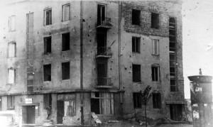 Budynek przy ul. Puławskiej 114 w Warszawie, rok 1948